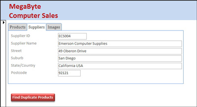 Microsoft Access 2013 form tabs, duplicate records, templates