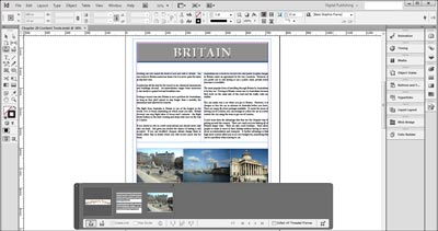 Adobe InDesign CC library and content conveyer
