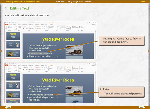 Microsoft PowerPoint 2013 ipad edit text