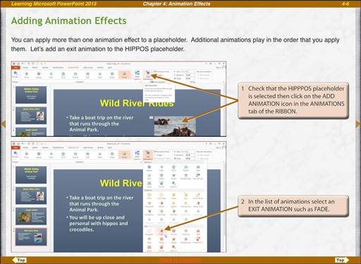 Microsoft PowerPoint 2013 ipad animation effects