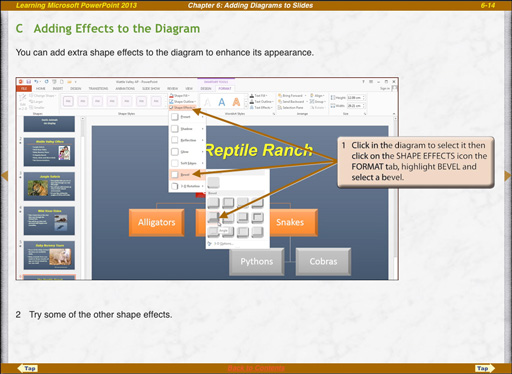 Microsoft PowerPoint 2013 ipad diagram effects