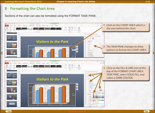 Microsoft PowerPoint 2013 ipad format chart