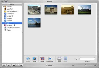 IPhoto 5 photo albums