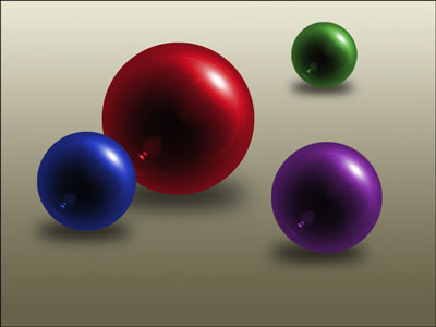 Adobe Photoshop CS3 spheres